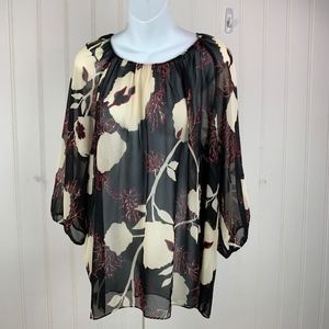 Talbot's Woman Boho Shear Top Pull over 3/4 Sleeve